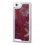 Visuel supplémentaire de Coque Crystal Glitter Liquid Diamonds Rouge iPhone 4/4S