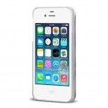 Vue complémentaire de Coque Crystal Glitter Liquid Diamonds Argent iPhone 4/4S