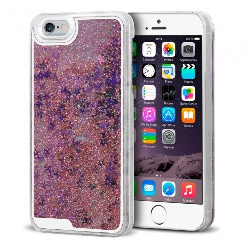 Coque Crystal Glitter Liquid Diamonds Rose iPhone 6
