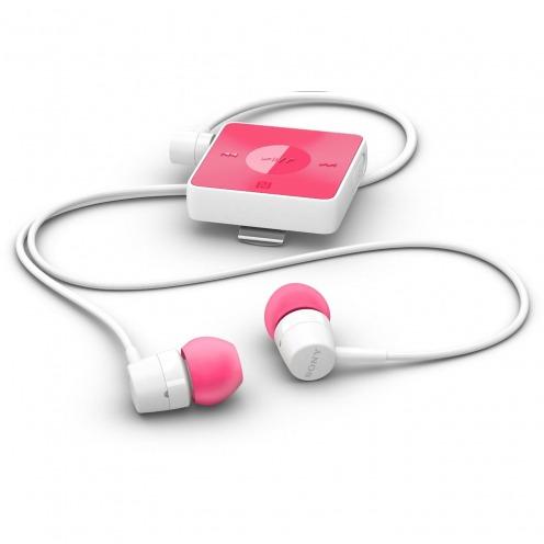 Photo réelle de Ecouteurs Sony SBH20 Kit Piéton Bluetooth NFC Stéréo Rose