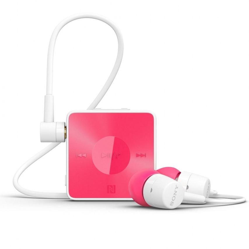 Vue portée de Ecouteurs Sony SBH20 Kit Piéton Bluetooth NFC Stéréo Rose