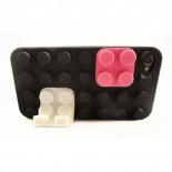 """Vue détaillée de Coque Blocs Design """"LEGO"""" Noire iPhone 4s / 4"""