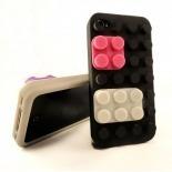 """Zoom sur Coque Blocs Design """"LEGO"""" Noire iPhone 4s / 4"""