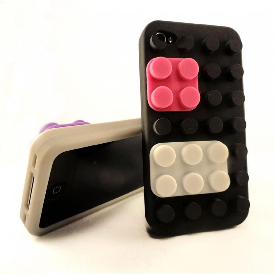 coque blocs design lego noire iphone 4s 4. Black Bedroom Furniture Sets. Home Design Ideas