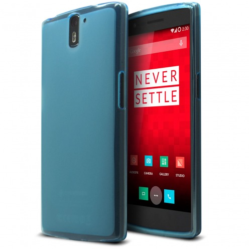 Coque OnePlus One Frozen Ice Extra Fine Bleu