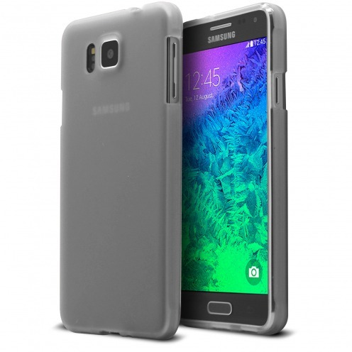 Coque Galaxy Alpha Frozen Ice Extra Fine Blanc