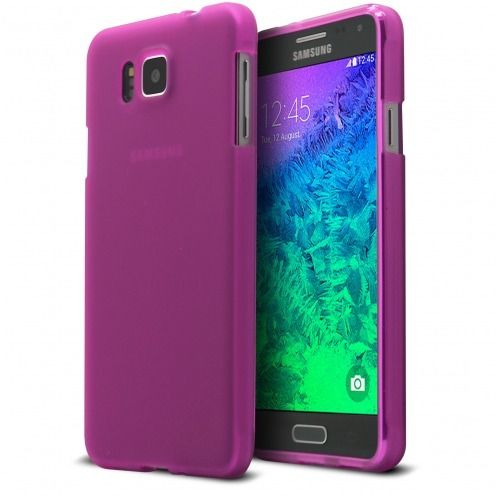 Coque Galaxy Alpha Frozen Ice Extra Fine Rose