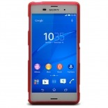 Photo réelle de Coque Sony Xperia Z3 Frozen Ice Extra Fine Rouge