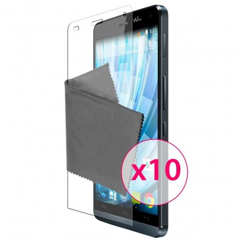Films de protection Wiko Getaway Clubcase ® Clear HD Lot de 10
