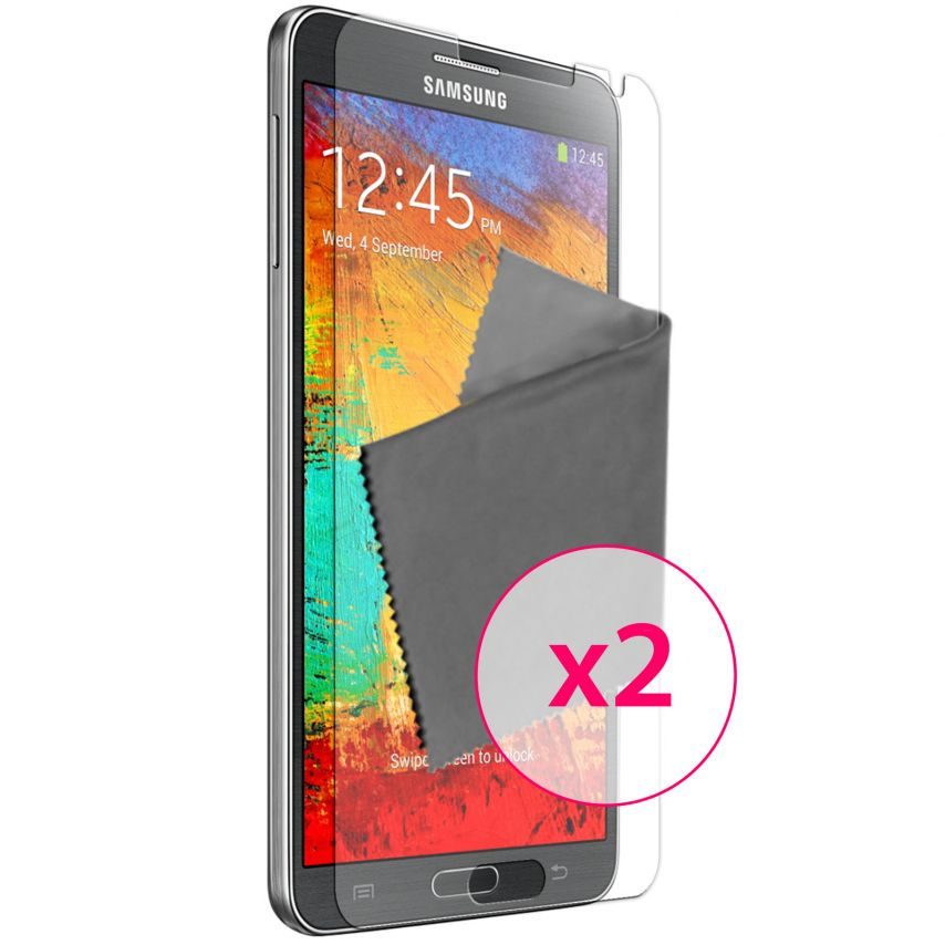 Zoom sur Films de protection Samsung Galaxy Note 3 Neo/Lite Clubcase ® HD Lot de 2