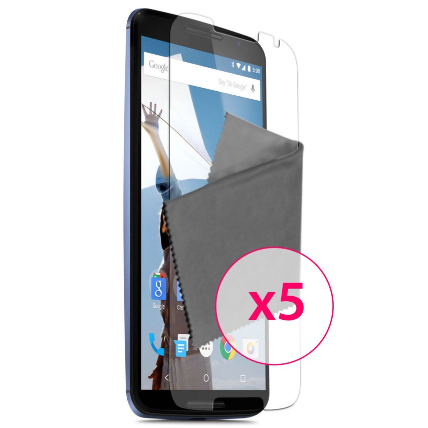Zoom sur Films de protection Motorola Nexus 6 Clubcase ® Clear HD Lot de 5