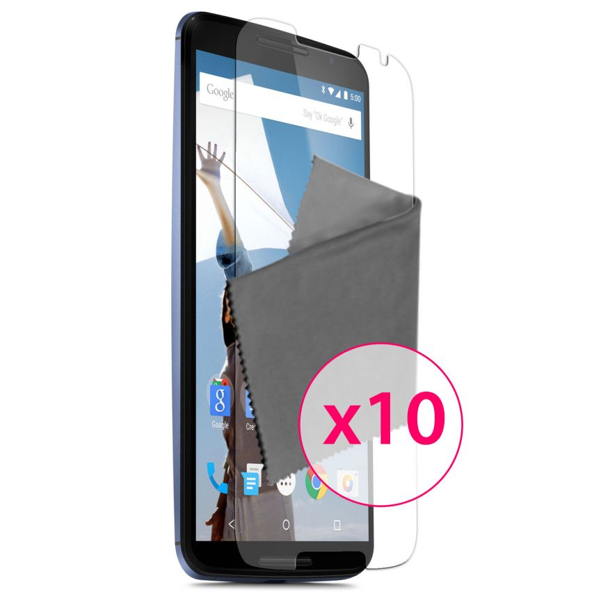 Zoom sur Films de protection Motorola Nexus 6 Clubcase ® Clear HD Lot de 10
