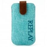 Visuel supplémentaire de Etui Pouch iPhone 4/4S Replay Aqua Denim Véritable Bleu