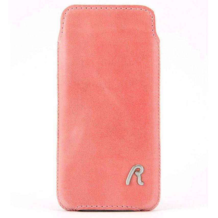 Visuel supplémentaire de Etui Pouch iPhone 4/4S Replay Vintage Cuir Véritable Rose