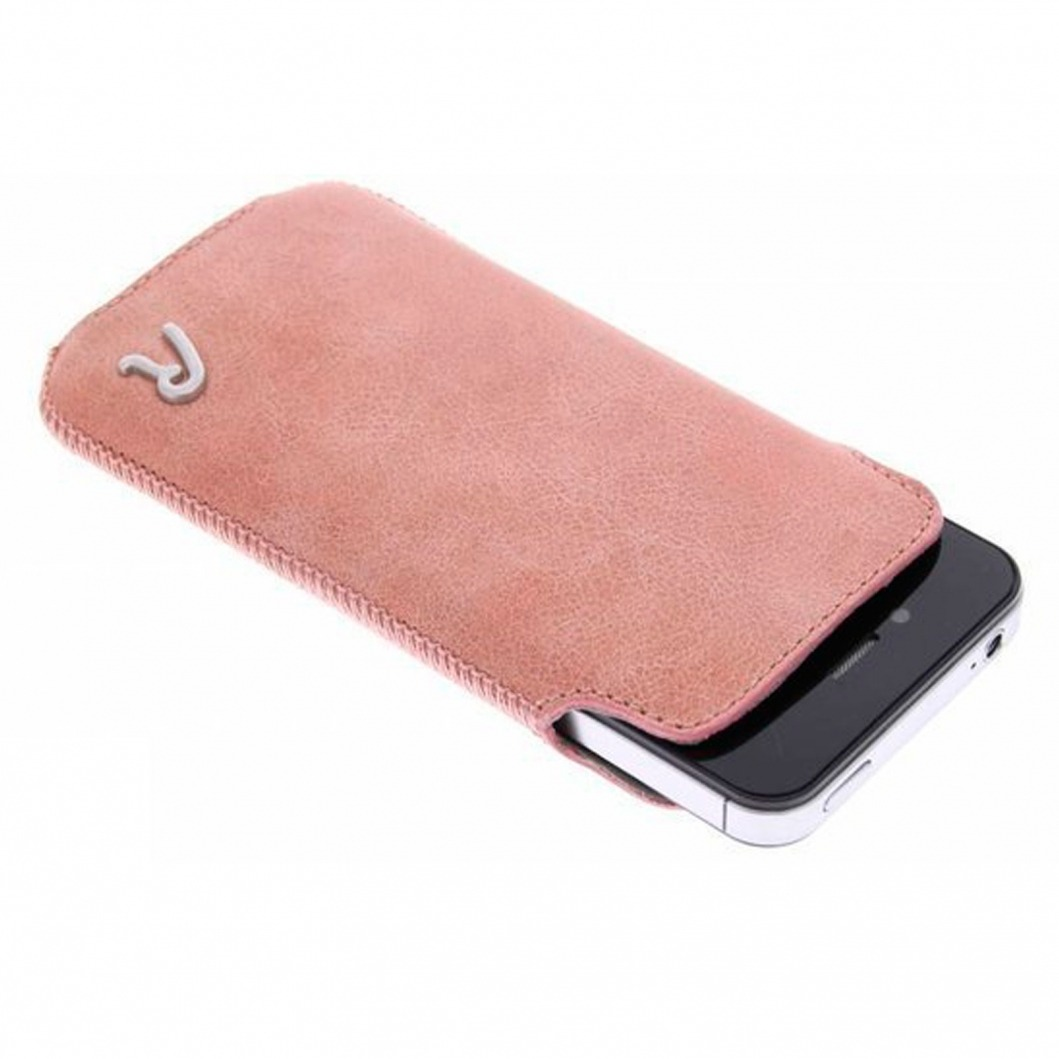 etui pouch iphone 4 4s replay vintage cuir v ritable rose. Black Bedroom Furniture Sets. Home Design Ideas