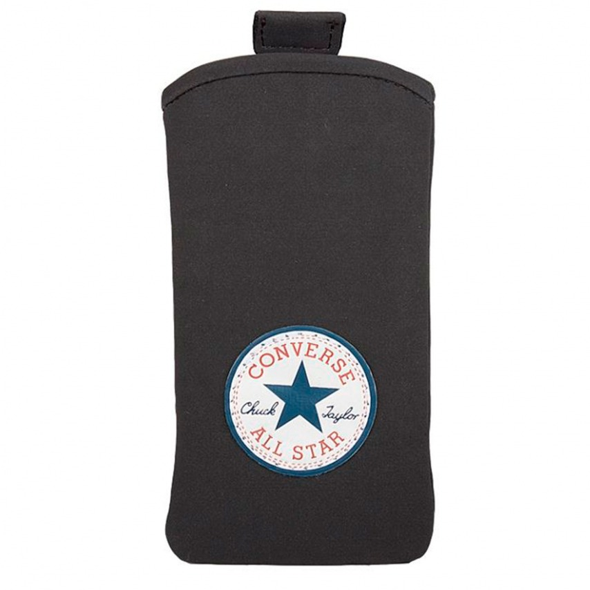 Zoom sur Etui Pouch iPhone 4/4S Converse All Star Daim Noir - Taille L