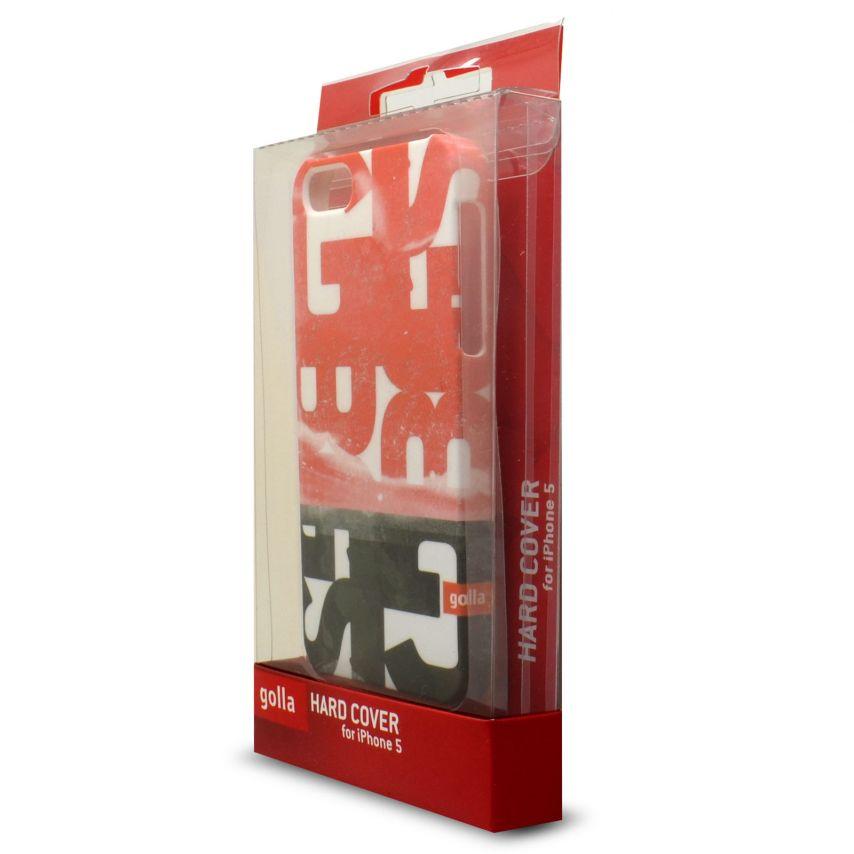 Vue détaillée de Coque Extra Fine iPhone 5S/5 Golla Collection Steve Rouge