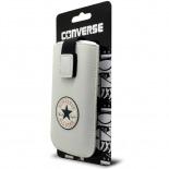 Vue portée de Etui Pouch iPhone 4/4S Converse All Star Cuir Eco Blanc - Taille M