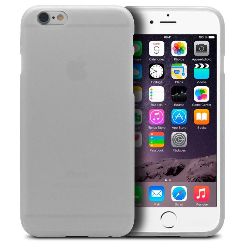 Vue complémentaire de Coque iPhone 6 Frozen Ice Extra Fine Blanc