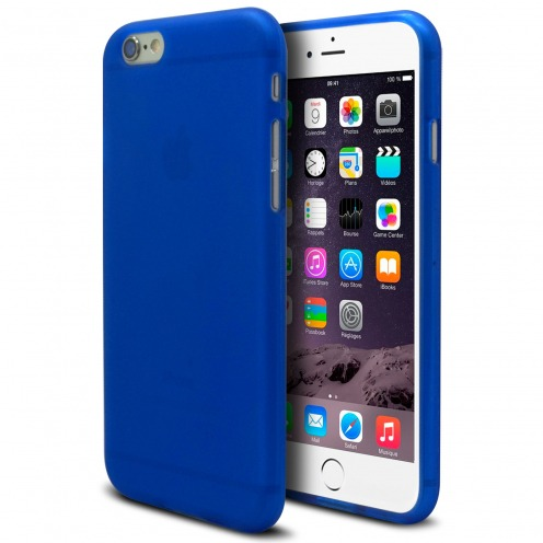 Coque iPhone 6 Plus Frozen Ice Extra Fine Bleu