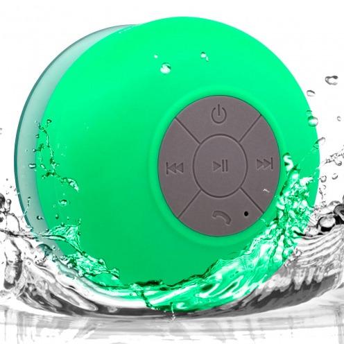 Enceinte Bluetooth AquaSound Résistante à l'eau pour SDB et Douche - Vert