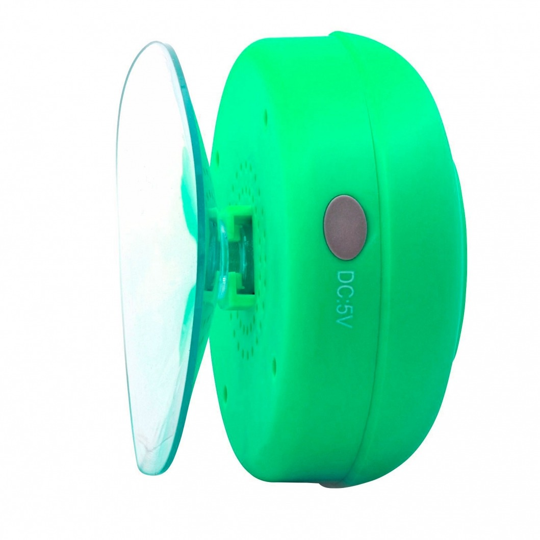 Enceinte bluetooth aquasound r sistante l 39 eau pour sdb et douche vert - Enceinte bluetooth douche ...