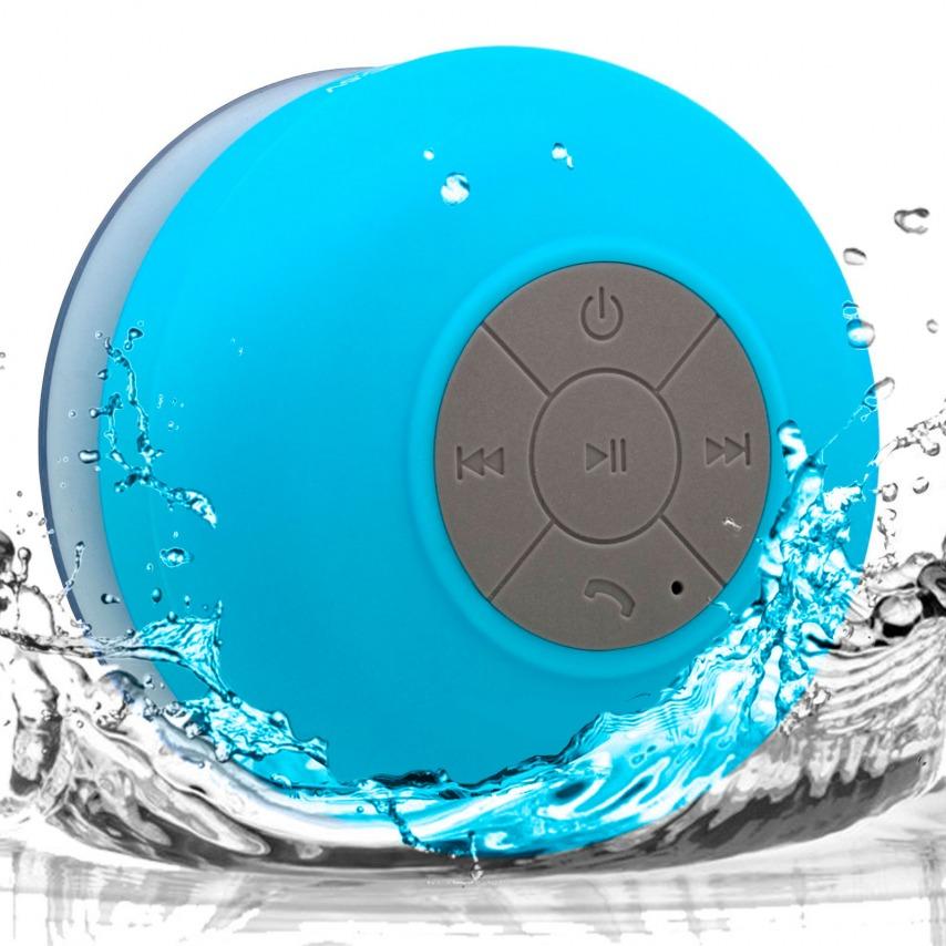 Visuel supplémentaire de Enceinte Bluetooth AquaSound Résistante à l'eau pour SDB et Douche - Bleu
