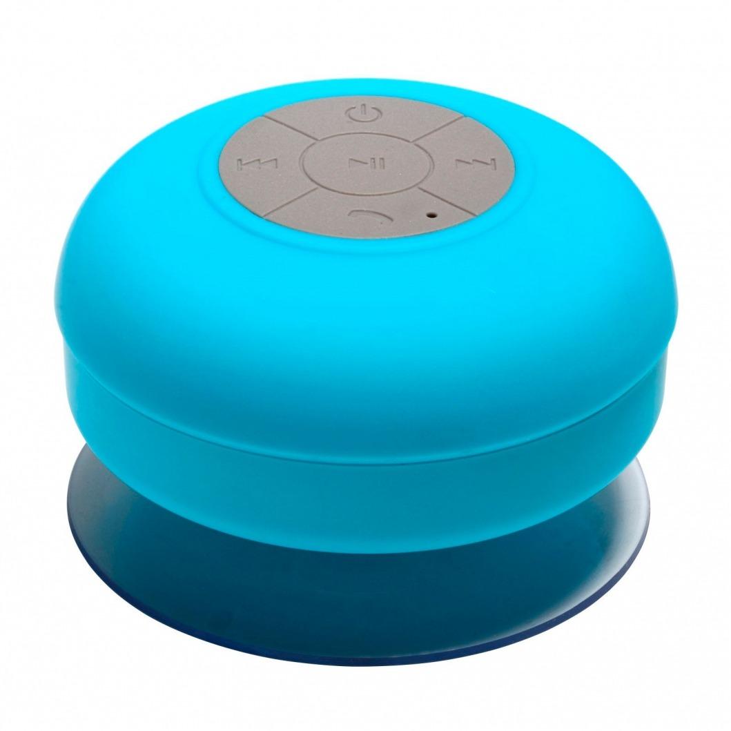 enceinte bluetooth aquasound r sistante l 39 eau pour sdb et douche bleu. Black Bedroom Furniture Sets. Home Design Ideas