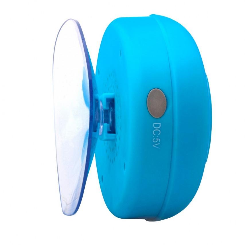 Photo réelle de Enceinte Bluetooth AquaSound Résistante à l'eau pour SDB et Douche - Bleu