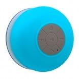Vue portée de Enceinte Bluetooth AquaSound Résistante à l'eau pour SDB et Douche - Bleu