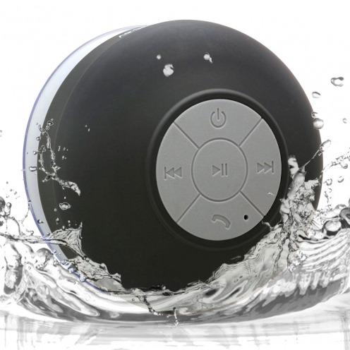 Enceinte Bluetooth AquaSound Résistante à l'eau pour SDB et Douche - Noir