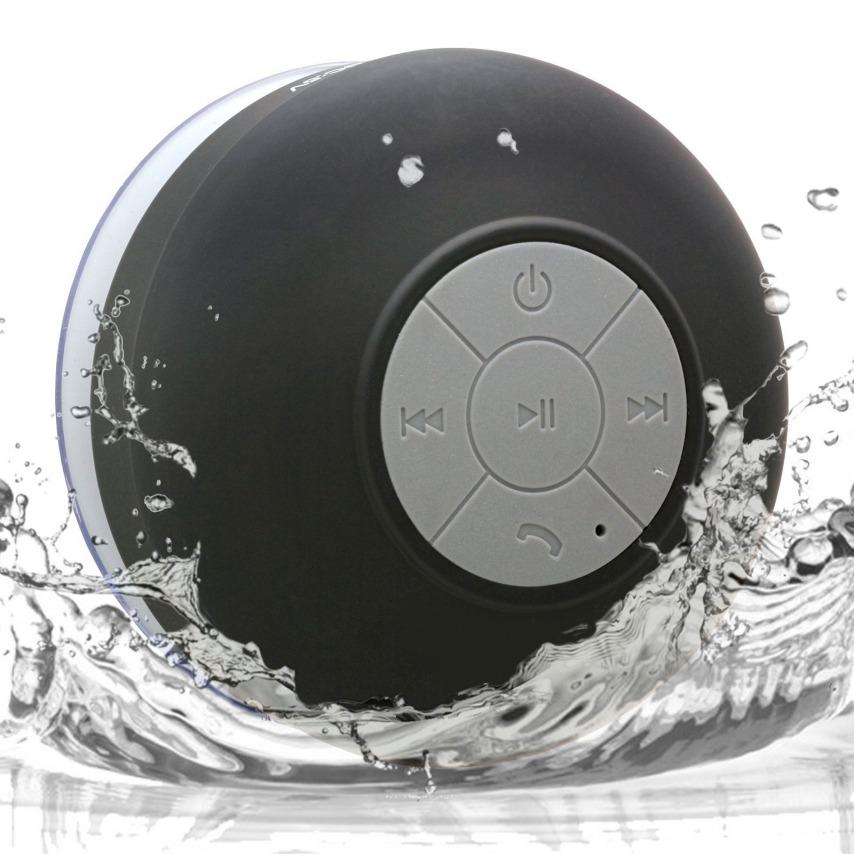 Visuel supplémentaire de Enceinte Bluetooth AquaSound Résistante à l'eau pour SDB et Douche - Noir