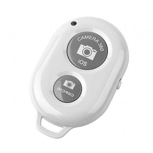 Visuel unique de Télécommande Bluetooth 3.0 RemoteShutter pour Selfiestick Blanc