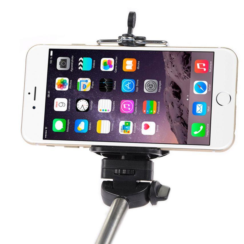 Zoom sur Monopod Selfie Stick Universel Extensible 20-100 cm Noir