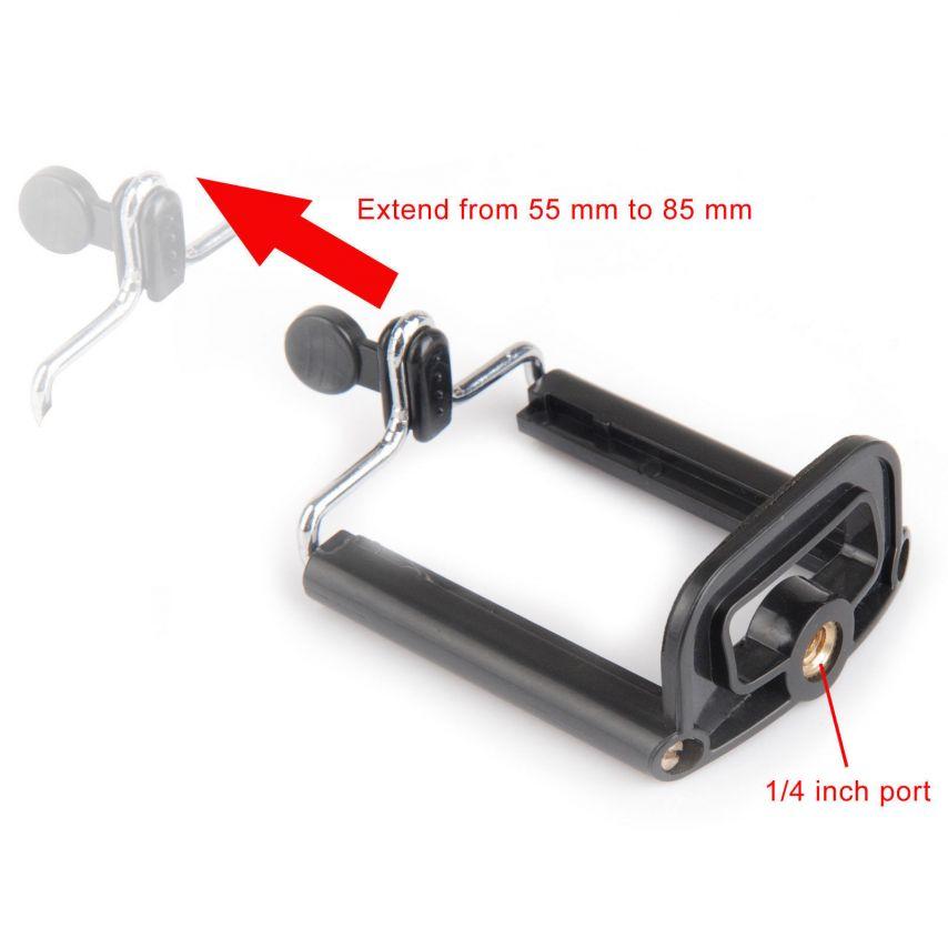 Visuel unique de Monopod Selfie Stick Universel Extensible 20-100 cm Noir