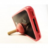 "Visuel supplémentaire de Mini Support iPhone ""Stand Sucker"" Ventouse Rose 3G/S 4 / 4S"