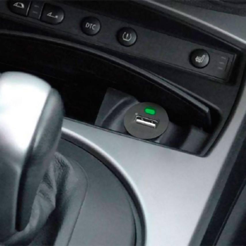 Visuel unique de Micro chargeur voiture / Allume cigare USB avec Câble data Noir iPhone 3G/S/4/S