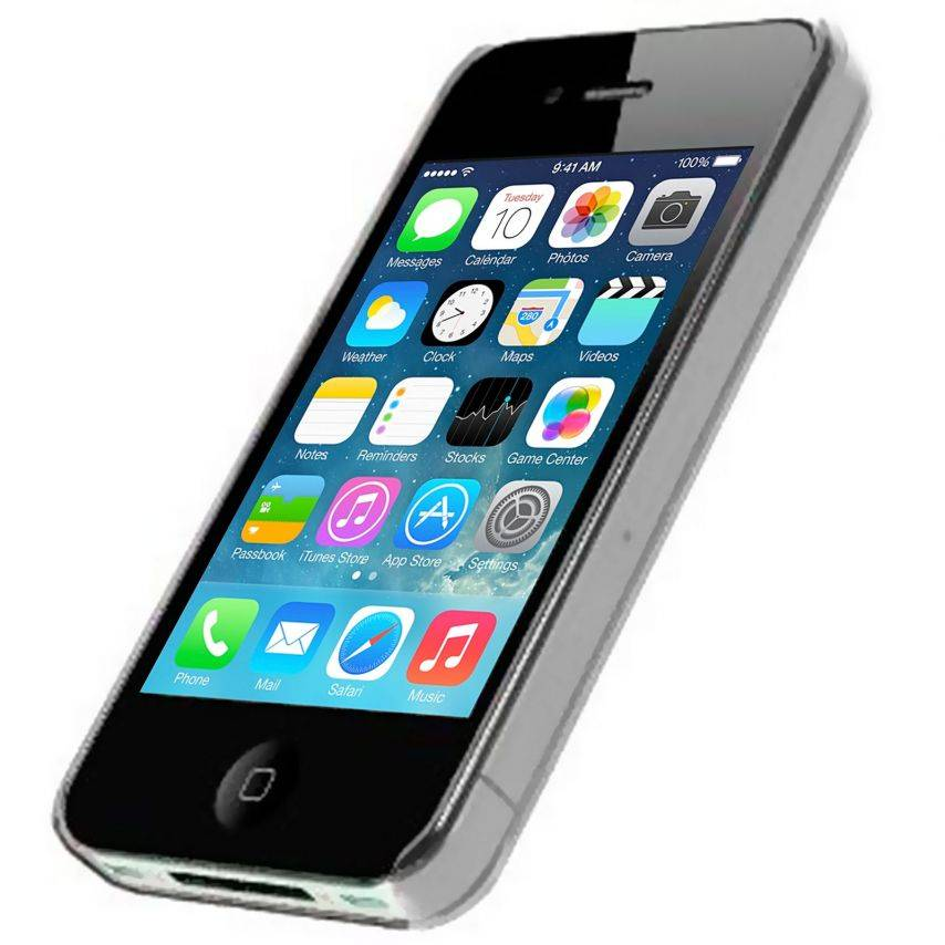 Vue complémentaire de Coque Crystal iPhone 4S / 4 Transparente