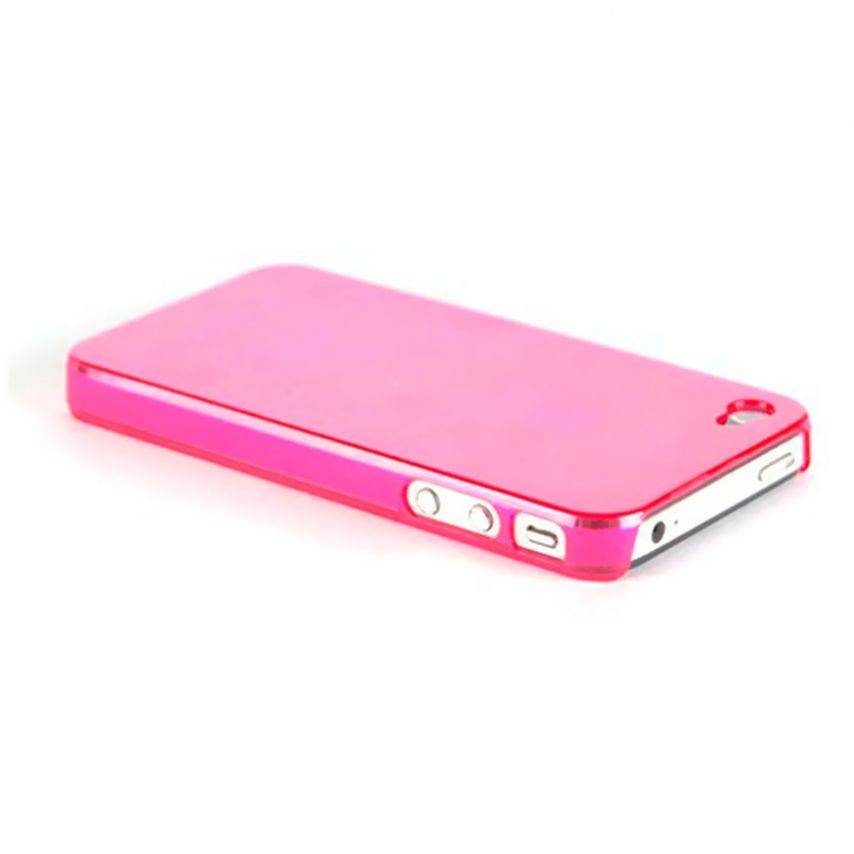 "Visuel unique de Coque ""Crystal"" iPhone 4S / 4 Rose"