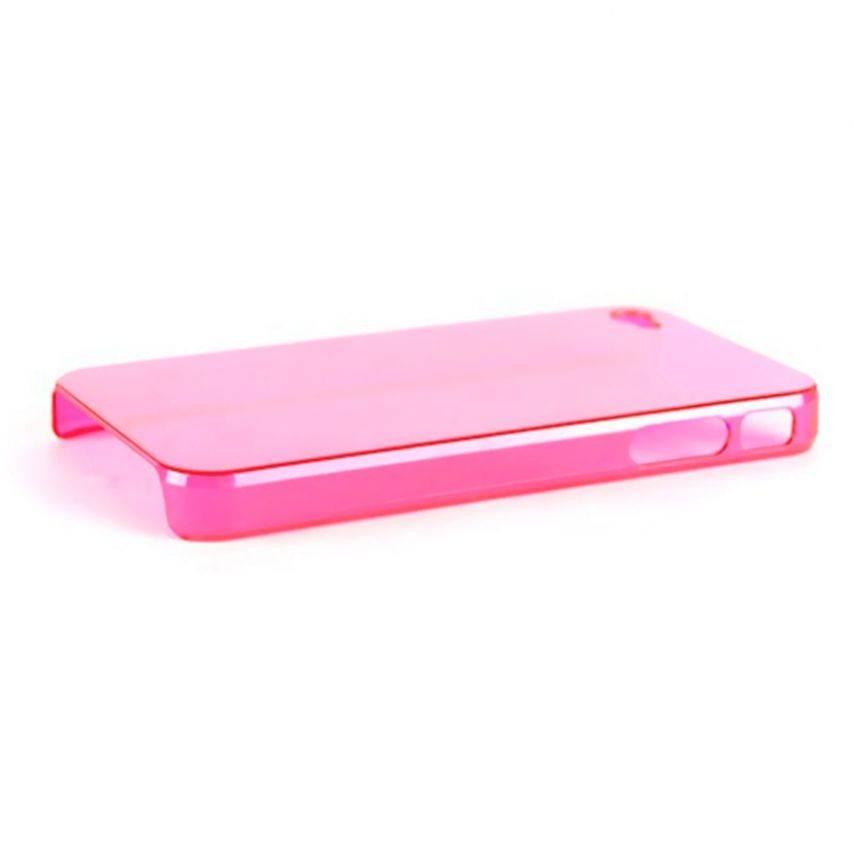 """Vue complémentaire de Coque """"Crystal"""" iPhone 4S / 4 Rose"""