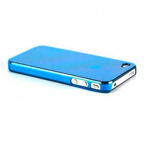 "Zoom sur Coque ""Crystal"" iPhone 4S / 4 Bleue"