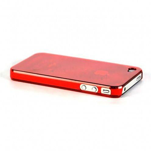 "Zoom sur Coque ""Crystal"" iPhone 4S / 4 Rouge"