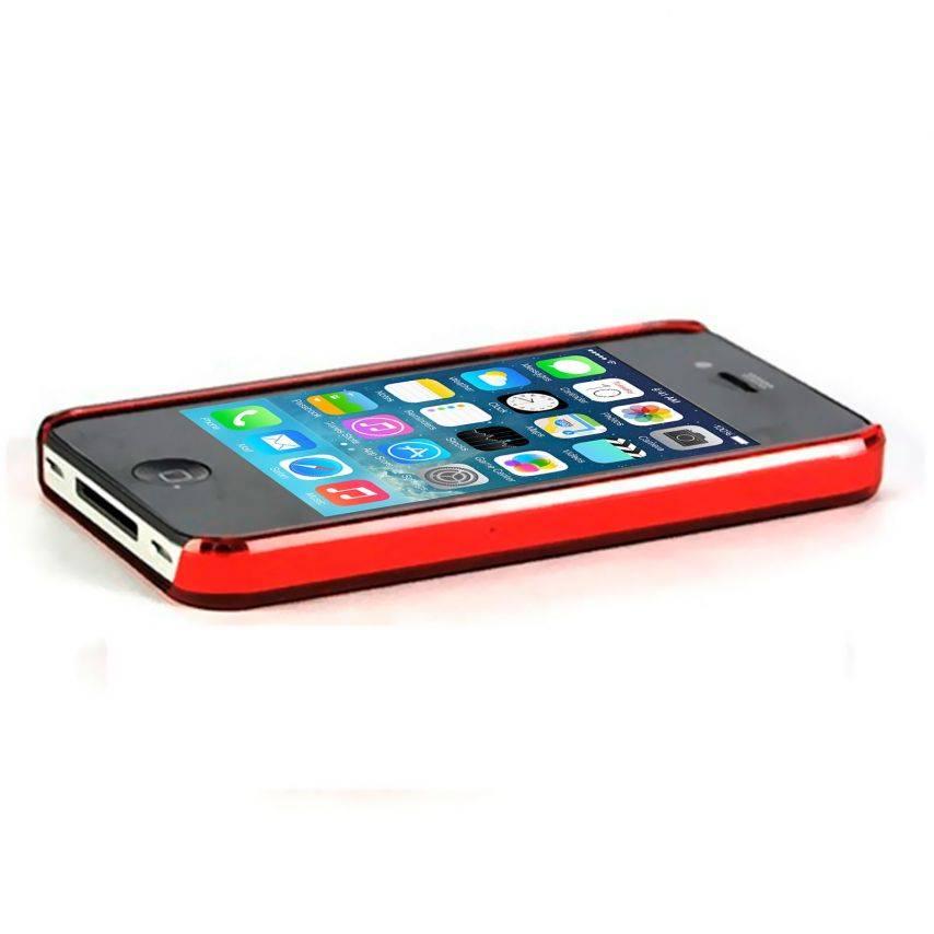 "Visuel unique de Coque ""Crystal"" iPhone 4S / 4 Rouge"