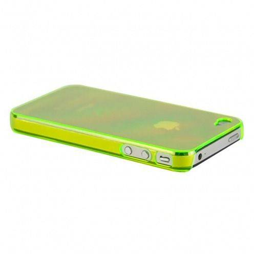 "Zoom sur Coque ""Crystal"" iPhone 4S / 4 Verte"
