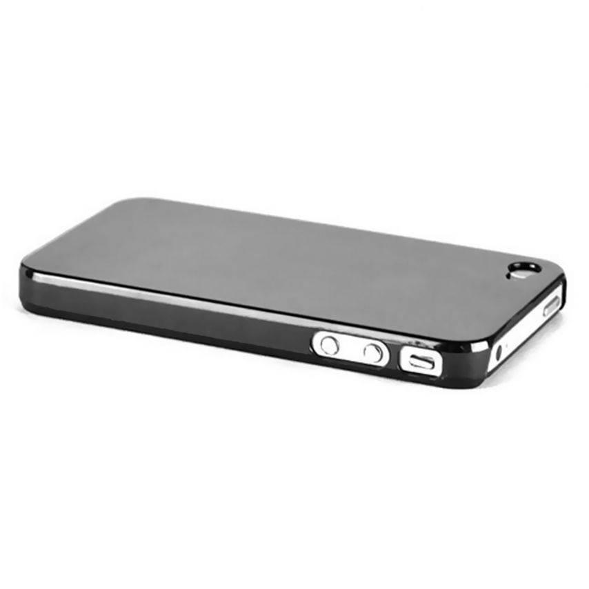 "Zoom sur Coque ""Crystal"" iPhone 4S / 4 Noire"