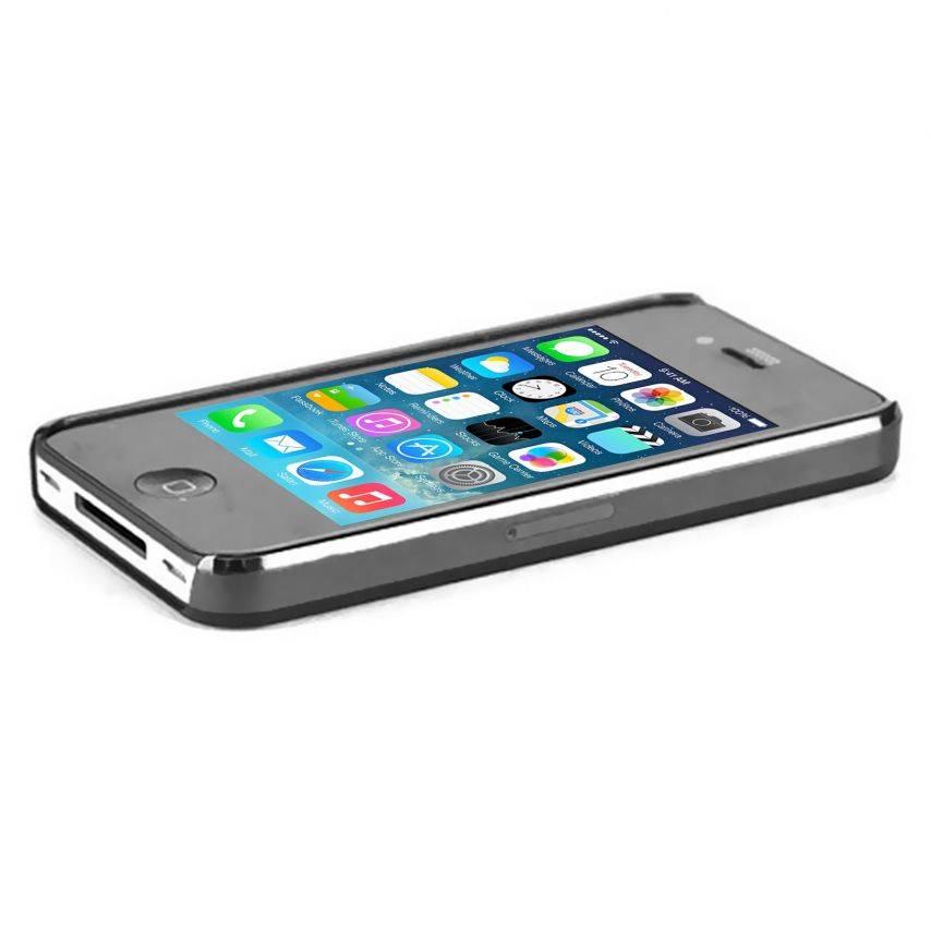 """Visuel unique de Coque """"Crystal"""" iPhone 4S / 4 Noire"""
