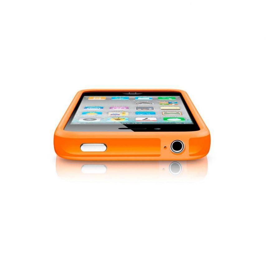 Vue portée de Coque Bumper HQ Orange Pour iPhone 4S / 4