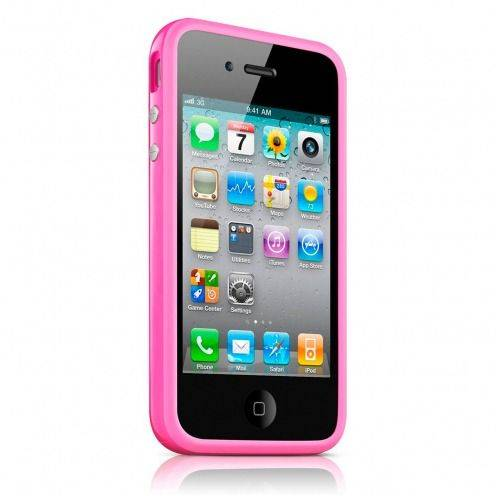 Photo réelle de Coque Bumper HQ Rose Pour iPhone 4S / 4