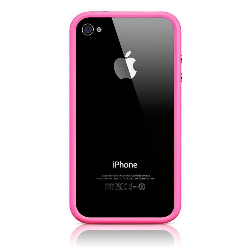 Vue portée de Coque Bumper HQ Rose Pour iPhone 4S / 4