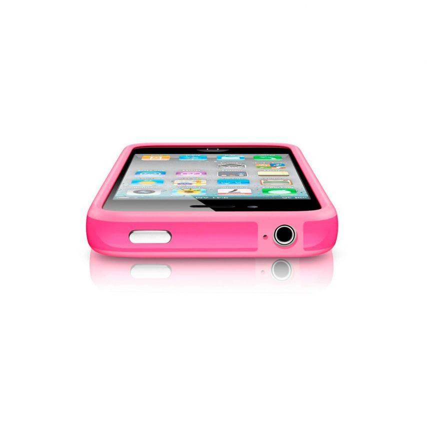Zoom sur Coque Bumper HQ Rose Pour iPhone 4S / 4